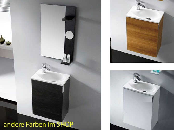 g ste wc badm bel set oporto waschtisch 40cm eiche. Black Bedroom Furniture Sets. Home Design Ideas