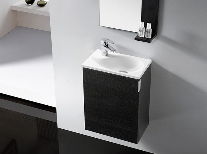 badm bel set g ste wc oporto 42cm inkl waschbecken spiegel g nstig. Black Bedroom Furniture Sets. Home Design Ideas