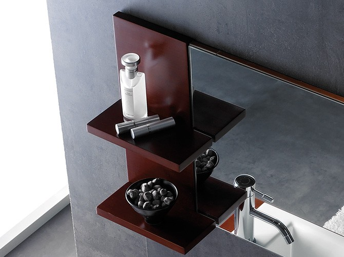 badm bel set g ste wc top mit waschbecken unterschrank spiegel 75cm. Black Bedroom Furniture Sets. Home Design Ideas