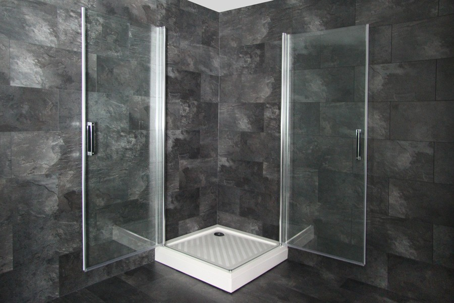 eckeinstieg duschabtrennung duschkabine schwingt r dusche alle gr en. Black Bedroom Furniture Sets. Home Design Ideas